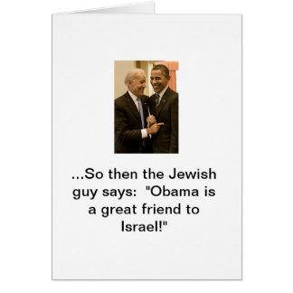 Cartes Obama, le grand ami de l'Israël
