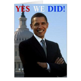 Cartes Obama oui nous avons fait !