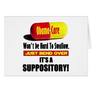 Cartes ObamaCare - suppositoire