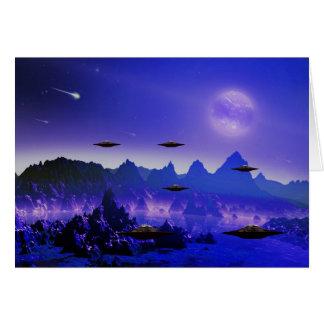 Cartes Objet de vol d'UFO dans l'espace
