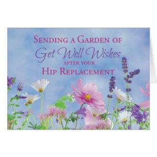 Cartes Obtenez bien après remplacement de hanche, fleurs
