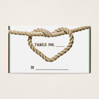 Cartes occidentales d'endroit de mariage de noeud
