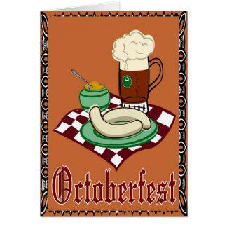 Cartes Octoberfest, Oktoberfest, allemand