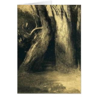 Cartes Odilon Redon- deux arbres