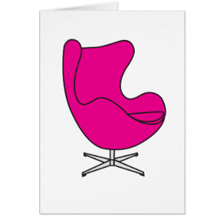 Cartes Oeuf-chaise magenta
