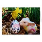 Cartes Oeuf de baiser de vache à lapin de Pâques