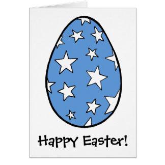 Cartes Oeuf de Spangelled d'étoile, Joyeuses Pâques !
