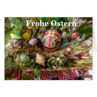 Cartes Oeufs de pâques peints à la main Ostern