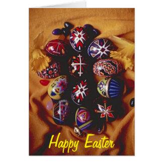 Cartes Oeufs de salutation heureux de Pâques