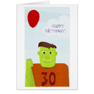 Cartes Ogre de joyeux anniversaire (texte editable)