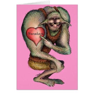 Cartes Ogre fier du tatouage de coeur (nom de changement