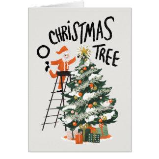 Cartes Oh arbre de Noël