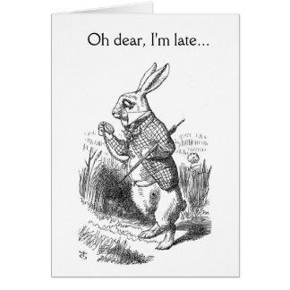 Cartes Oh, je suis en retard…