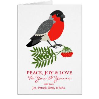 Cartes Oiseau de Noël de bouvreuil