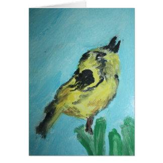 Cartes Oiseau jaune