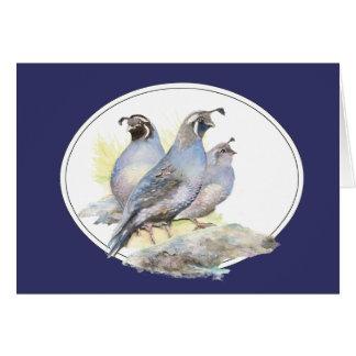 Cartes Oiseau original de cailles de Californie