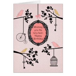 Cartes Oiseaux vintages et branches