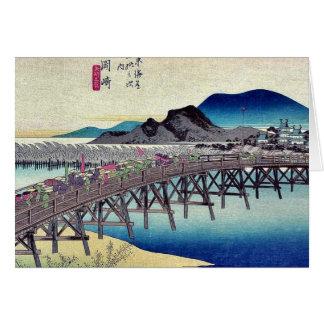 Cartes Okazaki par Ando, Hiroshige Ukiyoe