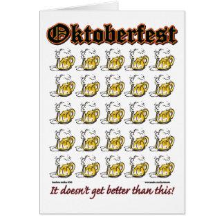 Cartes Oktoberfest 25 tasses de bière