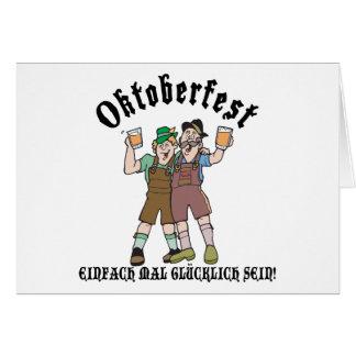 Cartes Oktoberfest EINFACH CMA GLÜCKLICH SEIN !