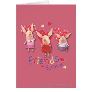 Cartes Olivia - amies pour toujours