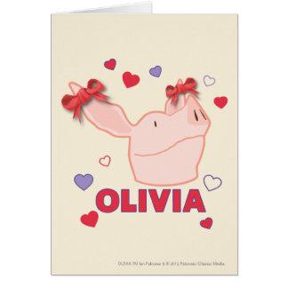 Cartes Olivia - coeurs