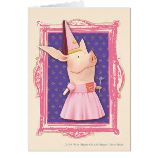 Cartes Olivia dans le cadre rose