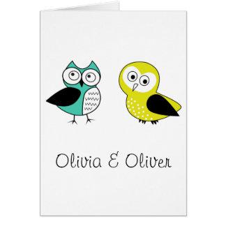 Cartes Olivia et Oliver