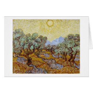 Cartes Oliviers de Vincent van Gogh  , 1889