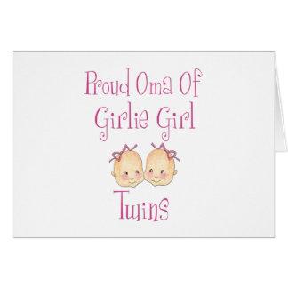Cartes Oma fier des jumelles de fille