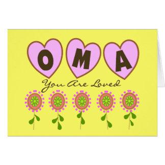 """Cartes """"Oma vous êtes aimés""""---Cadeaux du jour de mère"""