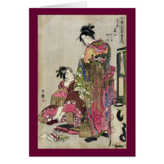 Cartes Omando - Ogie Oiyo et Takeji par Utamaro