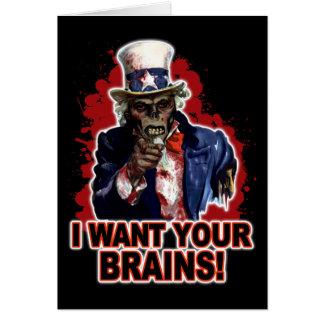 Cartes Oncle Sam de zombi