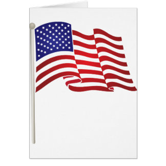 Cartes Ondulation de drapeau des USA