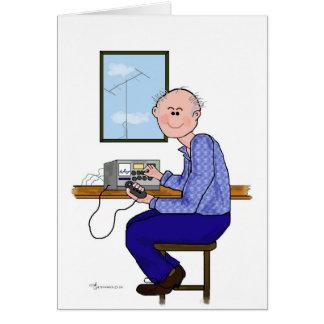 Cartes Opérateur radio masculin de jambon - presque