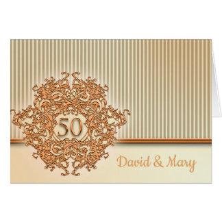 Cartes Or, cinquantième anniversaire de mariage