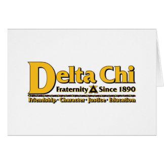 Cartes Or de nom et de logo de Chi de delta