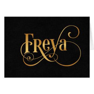 Cartes Or tourbillonnant personnalisé de Freya de