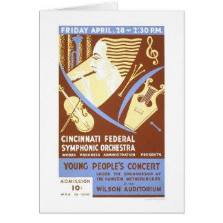 Cartes Orchestre de Cincinnati WPA 1939