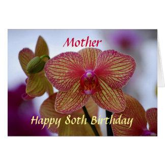 Cartes Orchidée heureuse de Phalaenopsis d'anniversaire
