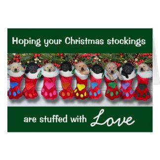 Cartes Ordures de gratitude de bas de Noël