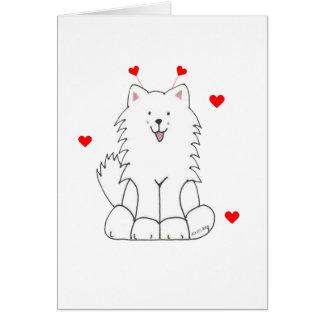 Cartes Oreilles de Valentine de Samoyed