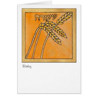 Cartes Orge, une des sept espèces de l'Israël