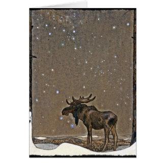 Cartes Orignaux dans la neige