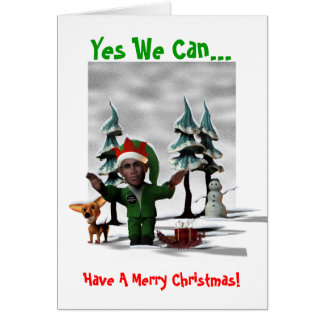 Cartes Oui nous pouvons…, avoir un Joyeux Noël !