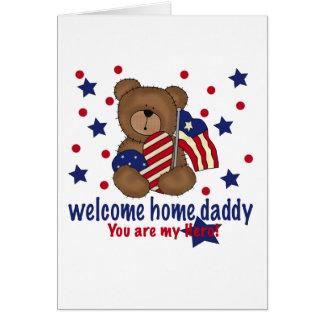 Cartes Ours à la maison bienvenu de papa