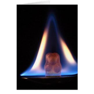 Cartes Ours brûlant de Gummi