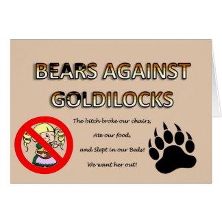 Cartes Ours contre Goldilocks