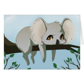Cartes Ours de koala grincheux