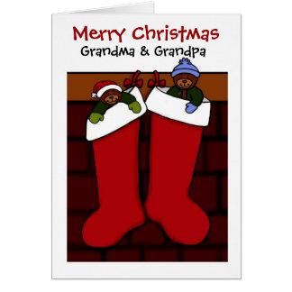Cartes Ours de Noël pour la grand-maman et le grand-papa